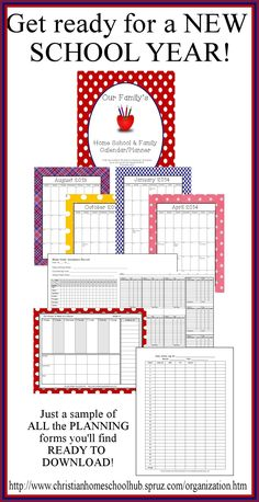 ♥ Here is just a SAMPLE of the forms you can download on the Hub to organize your homeschool! ♥ To see all available forms, go to: http://www.christianhomeschoolhub.spruz.com/organization.htm (Download Club members have UNLIMITED DOWNLOADS!)