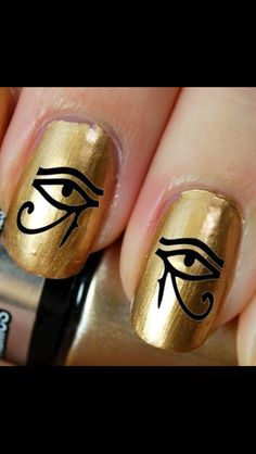 eye of horus nail decals buy here  http://www.etsy.com/au/listing/128152942/56-ankh-crux-ansata-egyptian-cross-nail?ref=sr_gallery_12&ga_search_type=all&ga_view_type=gallery