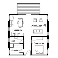 Washington cabin floor plan - Affordable Cabin Escape - Sunset Mobile