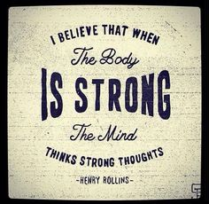 strong body strong mind
