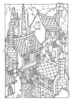 victorian homes Coloring Pages