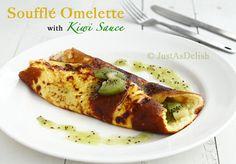Soufflé Omelette with Kiwi Sauce