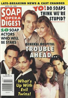Kevin & Lucy Sonny & Brenda Robin & Stone #GH 4/25/95 http://classicsodcovers.tumblr.com/