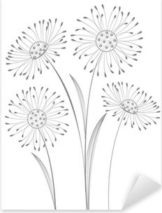 Flower Pattern Drawing, Flower Drawing Tutorials, Flower Outline, Flower Sketches, Floral Drawing, Flower Art, Easy Flower Drawings, Easy Chalk Drawings, Outline Drawings