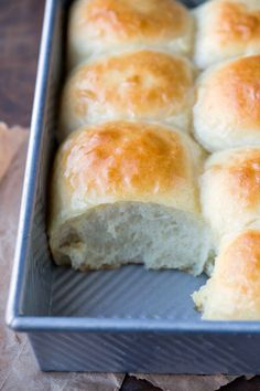 Amish Dinner Roll Recipe - homemade light and fluffy bread!