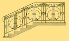 Кованые перила. Изготовление кованых перил для лестниц. Студия ковки «Эллада»