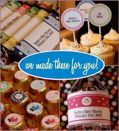 Printable Baby Shower Hostess Survival Theme Pack!  Includes water bottle labels, candy bar wrappers, Hershey's Kiss labels, favor tags, 10 printable games and more!