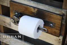 Industrial Wrench Toilet Paper Holder by urbanwoodandsteel on Etsy*******for the Man Cave bathroom Metal Projects, Home Projects, Craft Projects, Industrial Furniture, Diy Furniture, Furniture Design, Man Cave Furniture, Car Part Furniture, System Furniture