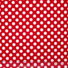 Happy Dots - Ta Dot Red Yardage - Michael Miller Fabrics - Michael Miller