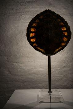 Tortoiseshell table lamp from the mid century at Studio Schalling #midcenturymodern