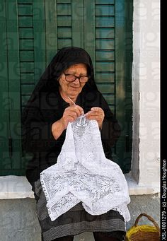 Greek Yiayia - My precious Thea Stella tatted lace.
