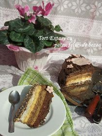 diana's cakes love: Tort Extasy cu patru feluri de bezea Something Sweet, French Toast, Food And Drink, Pudding, Breakfast, Desserts, Cakes, Morning Coffee, Tailgate Desserts