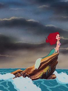 New wallpaper funny disney little mermaids ideas Ariel Disney, Disney Little Mermaids, Disney Art, Disney Pixar, The Little Mermaid, Disney Characters, Mermaid On Rock, Mermaid Mermaid, Little Mermaid Wallpaper