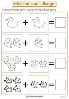 Using Math Games to Enhance Learning Creative Curriculum Preschool, Kindergarten Math Worksheets, Preschool Learning Activities, Preschool Activities, Grade R Worksheets, Kids Math Worksheets, Math Formulas, Simple Math, Math For Kids