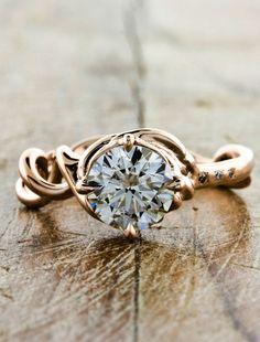 Unique Custom Double-helix Engagement Rings by Ken & Dana Design - Mandy top