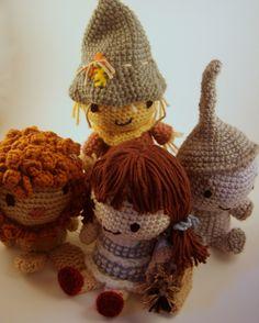 Wizard of Oz dolls, Nursery Decorations by Jenna Wingate