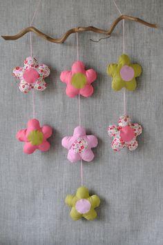 Mobile fleurs fikOu miKou