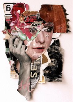 Rip it up, Carlos Cruz Collages, Collage Artists, Collage Portrait, Paper Collage Art, Collage Illustration, Photocollage, Collage Design, A Level Art, Fashion Collage