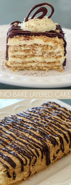 No-Bake Layered Cake - Valentina's Corner