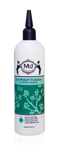 FreshenUp Cleansing Treatment, Packed with antioxidants and refreshing botanicals, such as gotu kola and red clover extract, to gently transform pup's dirty and dull fur into a clean and shiny coat in just 10 minutes. $22 http://mjdog.com/product/freshenup-cleansing-treatment
