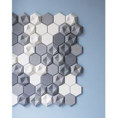 """""""Patrycja Domanska and Tanja Lightfoot designed Edgy, a collection of hexagonal wall tiles for @KAZAConcrete. The collection is made up of two styles that…"""""""