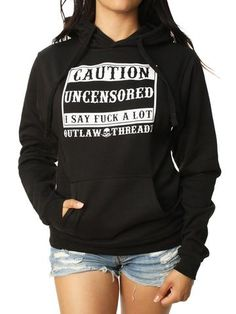 Outlaw Threadz Women s Uncensored Pullover Hoodie Moletons 162f7983616