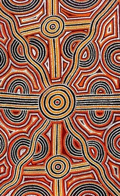 The simple use of dots and lines in Aboriginal art is always breathtaking