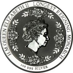 1 Dollar Silber Elisabeth II - Längstregierende Monarchin PP