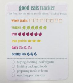 Good Eats Trackers 25 pack by KITLife on Etsy