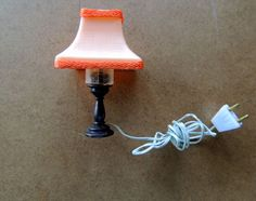 Dollhouse Miniatures 1:12 - 2.5 inch Table Lamp for Desk or Vanity in any room #Unbranded