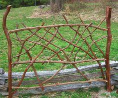 Rustic Bed Headboard Laurel Twig Log Cabin by BlueRidgeRustics, $895.00....here is a laurel headboard I made