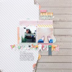 Janna Werner scrapbooking layout for Chickaniddy Crafts Scrapbooking Inspiration vonnöten?