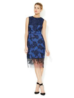 Chantilly Lace Silk Embroidered Dress