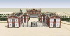 Modern rendering of Chateau de Marly