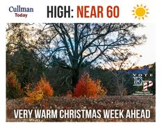 CULLMAN COUNTY WEATHER: SUNDAY - December 20th: CHILLY START - WARM UP CONTINUES WITH SUNNY SKIES - High 60 Degrees  Today's weather forecast sponsored by: Vote Eric Parker Chairman Cullman County Commission  Today's Weather Image is from professional Bremen area photographer, Pete Dobbs  weather is a paid political advertisement for Eric Parker, P.O. Box 2841, Cullman, Al, 35056