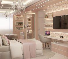 Teen Bedroom Designs, Bedroom Decor For Teen Girls, Room Ideas Bedroom, Small Room Bedroom, Home Decor Bedroom, Small Girls Bedrooms, Girl Bedrooms, Cute Room Decor, Home Room Design