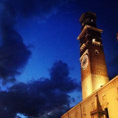 Torre dei Lamberti - Piazza Erbe - Verona, Italy.