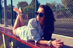 Lucy-doesitbetter: Flat Matte Black Revo Color Lens Wayfarer Sunglasses 8025