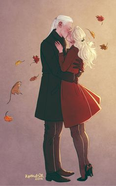 Lucius and Narcissa by UpTheHill