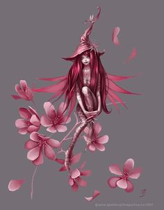 fairy with cherry blossoms tattoos - Google Search