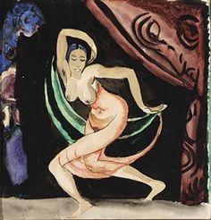 Artwork by Jan Sluijters, DANCING NUDE, Made of gouache on paper