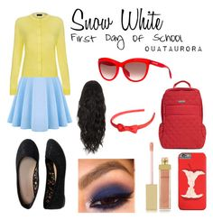 """""""Snow White """"First Day of School"""""""" by ouataurora ❤ liked on Polyvore featuring Paul Smith, Aéropostale, Pringle of Scotland, AERIN, Vera Bradley and Alexander McQueen"""