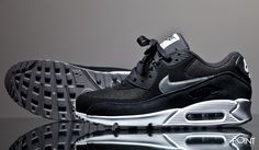 Zapatillas Nike Air Max 90 Essential Negro Blanco, #Sneakers #Zapatillas