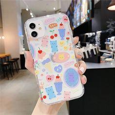 KAWAII CARTOON BEAR CUTE PASTEL PHONE CASE - For 7Plus or 8Plus / style15