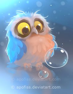 blue feathered owl is confused!first work posted on 2016 yeah! used photoshop and paint tool sai ( for more questions / answers go to F.A.Q ) F.A.Q | TWITTER | FACEBOO...