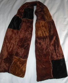 "$8.79 & Ships Free!  Vintage Velvet Scarf 53"" Long by 7-1/2"" Wide Soft & Lovely Ships Free in the USA #Unbranded #Vintage"