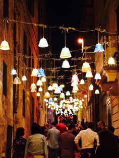 Strait Street jazz with Mdina glass light shades, Valletta