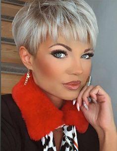 Short Choppy Hair, Short Thin Hair, Short Grey Hair, Short Hair With Layers, Short Hair Cuts For Women, Pixie Hair Color, Blonde Pixie Hair, Pixie Haircut Styles, Pixie Haircut For Thick Hair