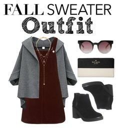"""""""Fall outfit"""" by simpleminds ❤ liked on Polyvore featuring Topshop, Office, Monki, Forever 21, Kate Spade and katespade"""