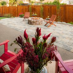 Relax around the firepit - steps from your doorway! Pulford Property - Paradise Restored www.paradiserestored.com